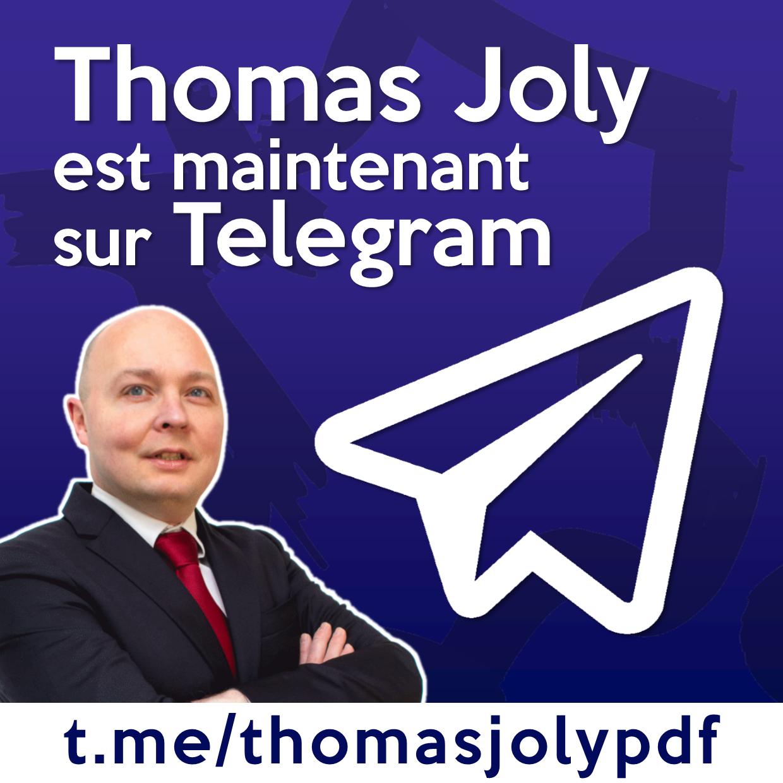 Thomas Joly encore bloqué sur Facebook, suivez-le sur Telegram !
