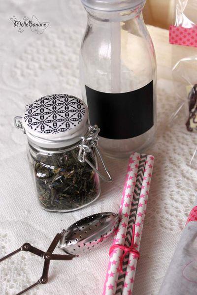 Cadeau gourmand - Pausé thé,biscuits & chocolat