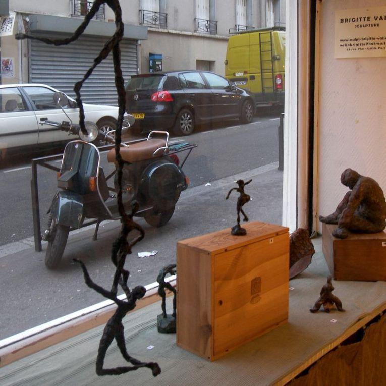 vues de l'atelier de Brigitte Valin pendant les portes ouvertes de Belleville en mai 2010. photos Bruno Boulanger