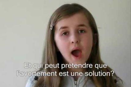 L'avortement, par une fille de 12 ans...