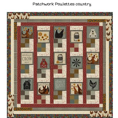 Patchwork poulettes Country