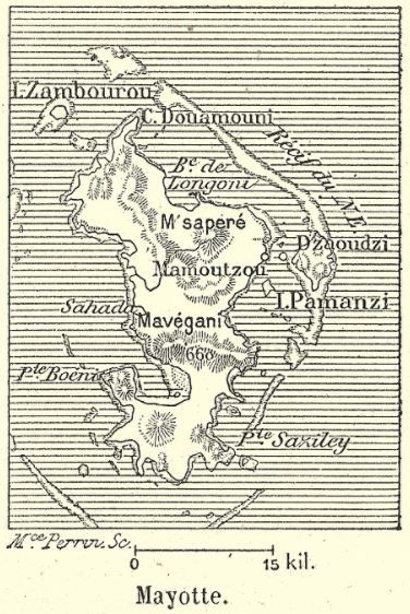 Carte de Mayotte de 1894