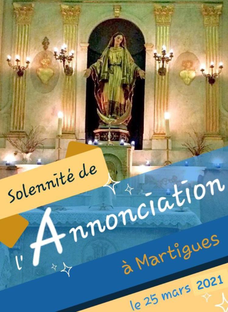 SOLENNITÉ DE L'ANNONCIATION À MARTIGUES