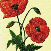 Poppies photo stitch free embroidery design 8