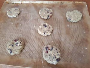 Cookies au Muesli et Cranberries
