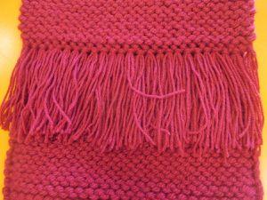 journée mondiale du tricot - le sac de Flavie
