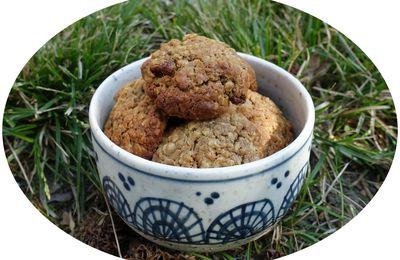 Cookies américains aux raisins secs, noix & cannelle