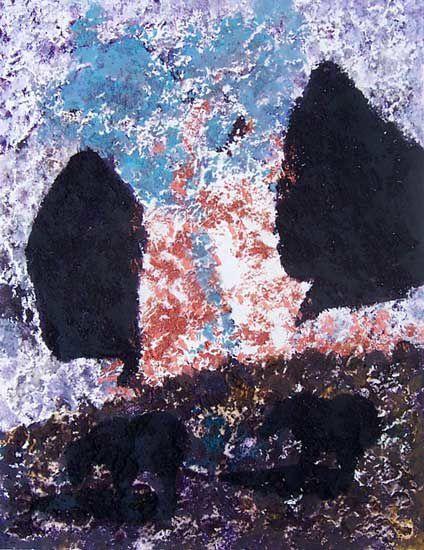 Celui qui aime l'eau tiède, et préfère la peinture qui s'excuse d'être là jusqu'à disparaître dans le décor, celui-là aura sans doute un peu de mal à savourer la peinture de Danielle Reissner...
