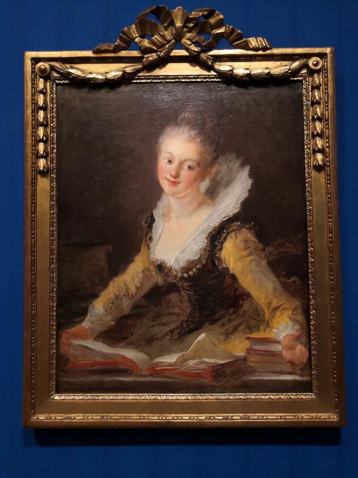 Jean-Honoré Fragonard (Grasse, 1732 - Paris 1806), La Musicienne Anne Louise Brillon de Jouy (1744-1824), née Boivin d'Hardancourt, Huile sur toile