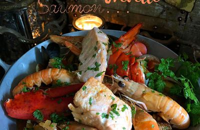 Cassolette de fruits de mer et saumon
