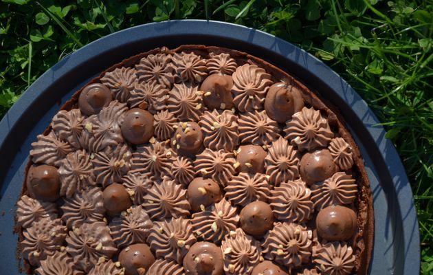 La tarte Chocolat et Noisette de Julien Loustau