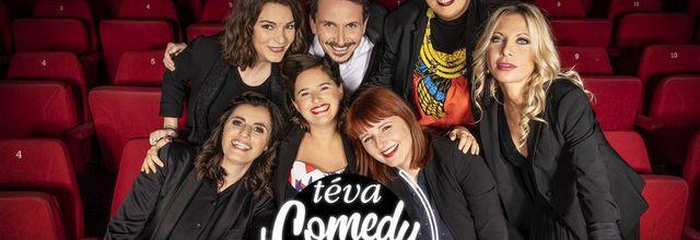 "Élodie Poux, Samia Orosemane, Doully, Sandrine Sarroche, Alexandra Pizzagali et Thaïs dans ""Le Téva Comedy Show"" ce soir sur téva"