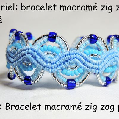 Tutoriel: faire un bracelet macramé zig zag perlé