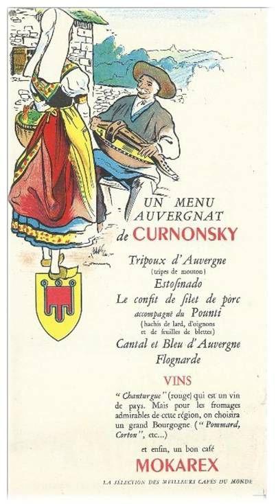 Menu Auvergnat et Aubrac
