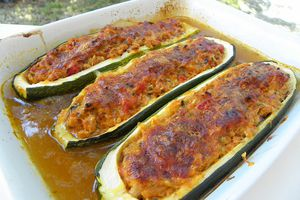 COURGETTES FARCIES AU THON ( thermomix)