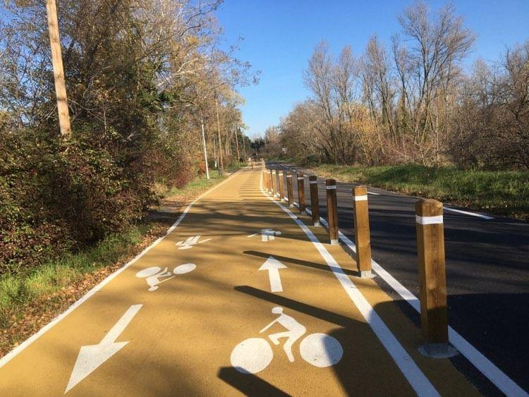 Valence : Piste cyclable à l'Epervière