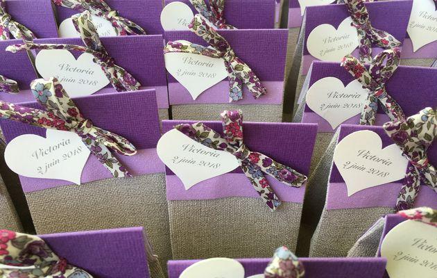 Création de faire-part et ballotins pour événements familiaux