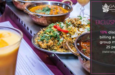 Lunch In Large Groups At Ganesha Restaurant Amsterdam