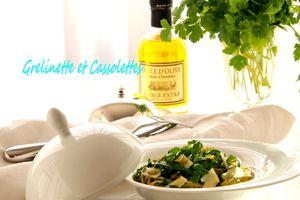 Spaghettis au Pesto de Roquette et de Pistache