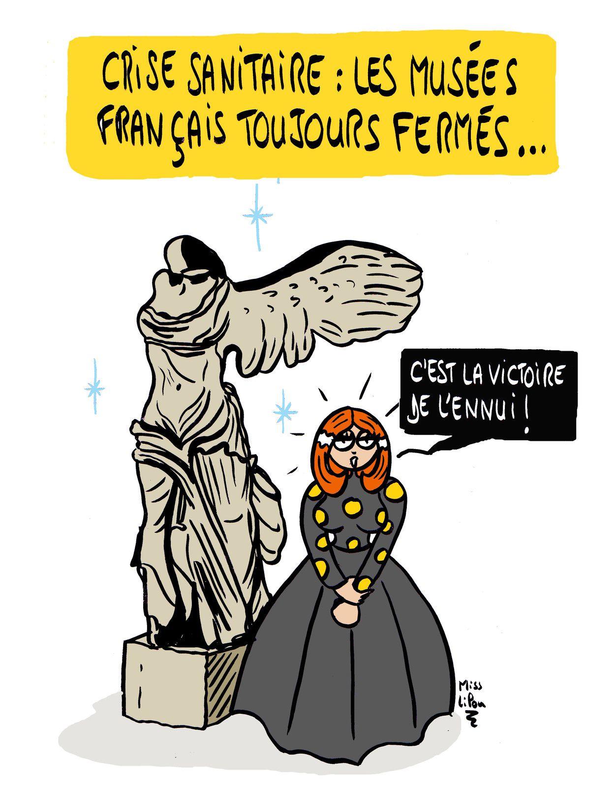 """""""Crise sanitaire : les musées français toujours fermés"""""""