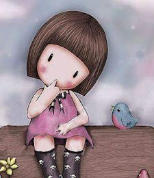Girl and Bird - Enfant - Fille - Oiseau - Tronc - Picture - Free