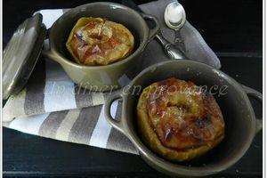 Pommes au four au chocolat & noix de coco