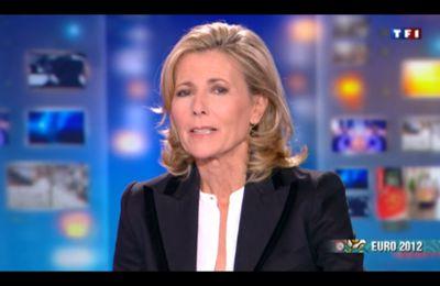 [2012 06 24] CLAIRE CHAZAL - TF1 - LE 20H @20H00