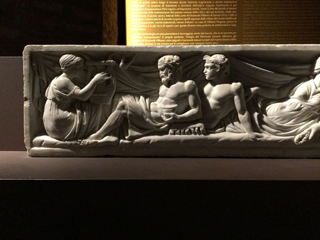 Side Panel of Sarcophagus lid with Banqueting Scene, mid-2nd-century AD [?]