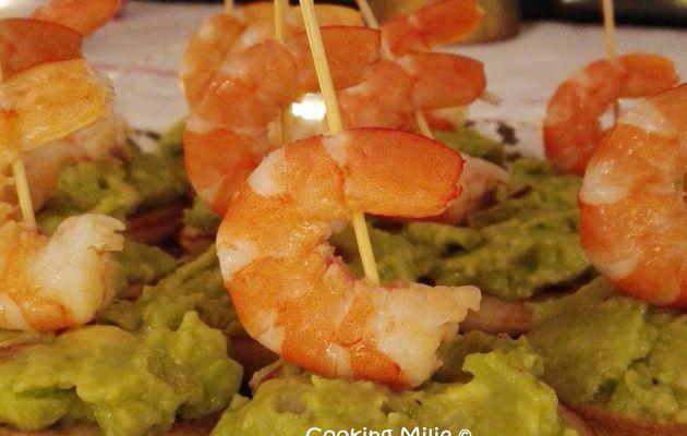 Apéritif #98 - Canapés express au guacamole et crevettes