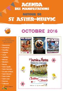 Fêtes et animations octobre 2016 autour de Neuvic et St Astier : journée des plantes, spectacle, théâtre, vide grenier...