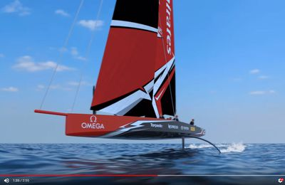 The revolutionary new America's Cup AC75 revealed: from 2D to 3D - from virtual to real !
