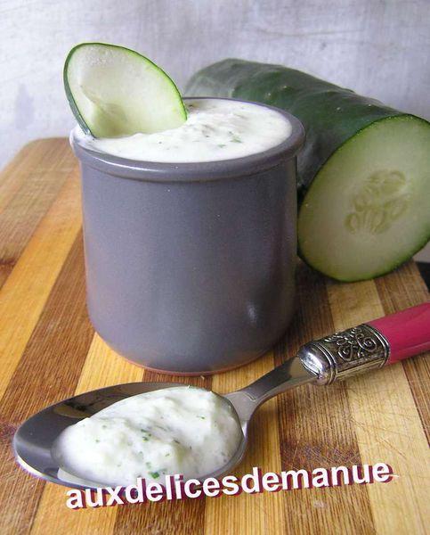 sauce fromage blanc au concombre 2
