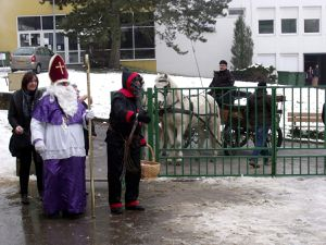 Saint Nicolas dans les écoles à Algrange en 2011
