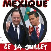 Actions contre la venue du président mexicain en france