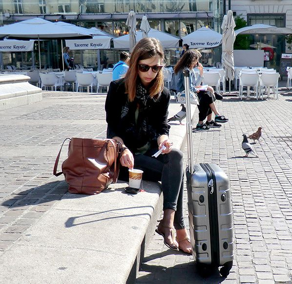 taxi-bagage-aeroport-femme