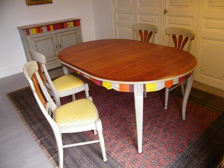 Customiser table et bahut en merisier Le Raincy :