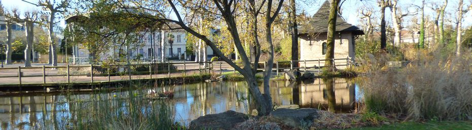 Le jardin des Promenades de Mazamet /Tarn.