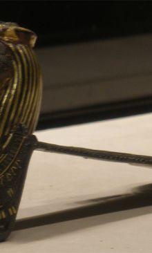 Contrepoids de collier rituel à l'image du dieu Crocodile Sobek