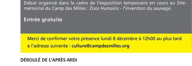08/12/14 - Zoos humains. L'invention du sauvage - Aix en Provence