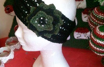 Tricoter un bandeau à fleur pour adulte