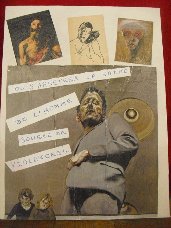 Centre Social - Atelier collages.