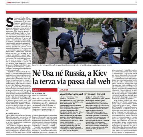 Tra Usa e Russia a Kiev la terza via passa dal web