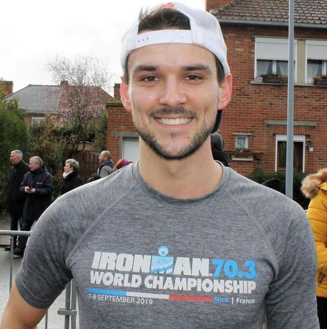 L'Halluinois Pierre Stieremans aux Championnats du Monde d'Ironman à Hawaï en 2022.