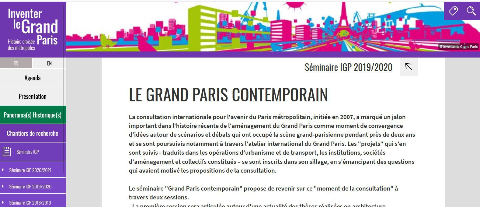 Le Grand Paris contemporain: Séminaire Inventer le Grand Paris