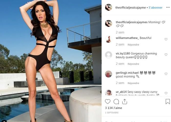 Jessica Jaymes sur Instagram