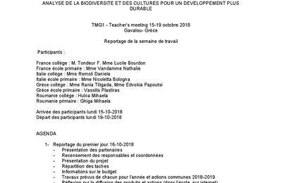 TMG1 REPORTAGE RENCONTRE COORDINATEURS DU PROJET