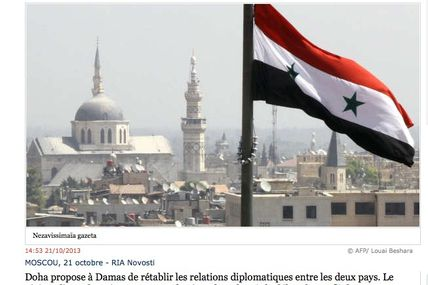 Même le Qatar veut faire la paix avec la Syrie : reste plus qu'Hollande, Fabius et une horde de barbus gaulois à convaincre