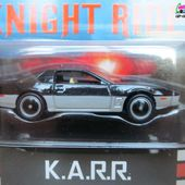K.A.R.R KNIGHT RIDER K2000 PONTIAC FIREBIRD 1989 RETRO ENTERTAINMENT HOT WHEELS 1/64 SERIE TV AVEC DAVID HASSELHOFF - car-collector