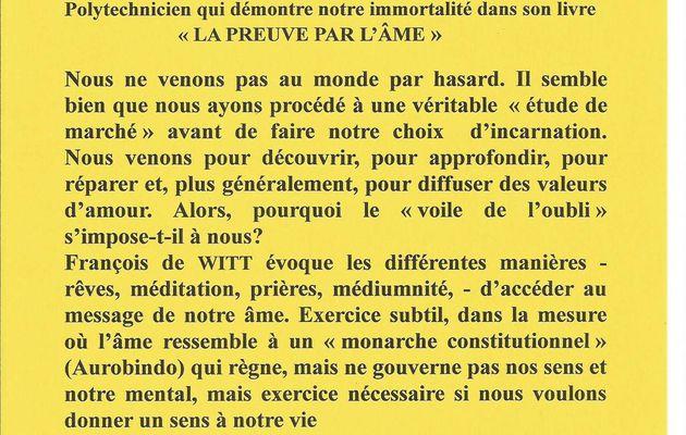 conférence François de WITT à Bessines  79