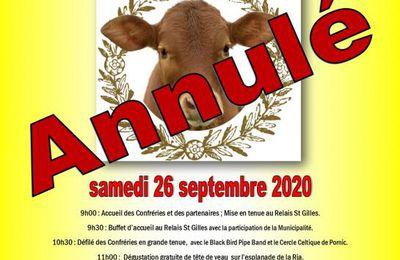 ANNULATION DE NOTRE 8ème GRAND CHAPITRE 2020.